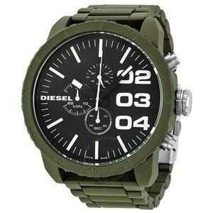 DIESEL Chrono Green Stainless Steel Men's Watch